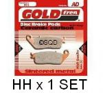 "STREET TRIPLE 675 & R [ALL 2007-11] ""REAR BRAKE PADS"" Goldfren ""HH"" [1 PAIR GF-020-HH Rear]"